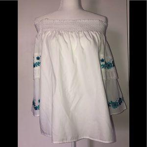 Off the shoulder blouse